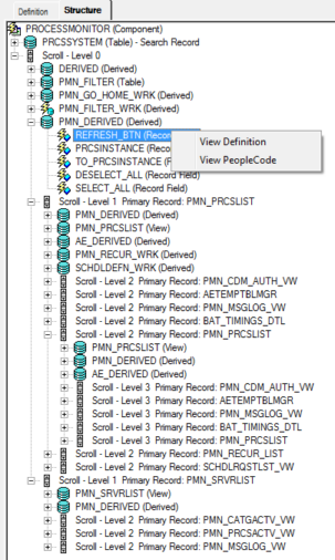 Viewing Component Leve      PeopleSoft Wiki